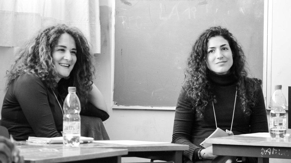 From left: Jida Homd Hamam, Dima Abu-Ghazaleh